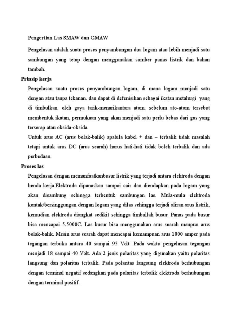 Pengertian Las Smaw Dan Gmaw