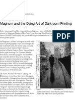 magnum and the dying art of darkroom printing - the literate lens