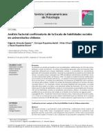 2014 Análisis Factorial Confirmatorio de La Escala de Habilidades Sociales