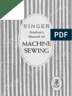 Singer Student Manual Machine Sewing