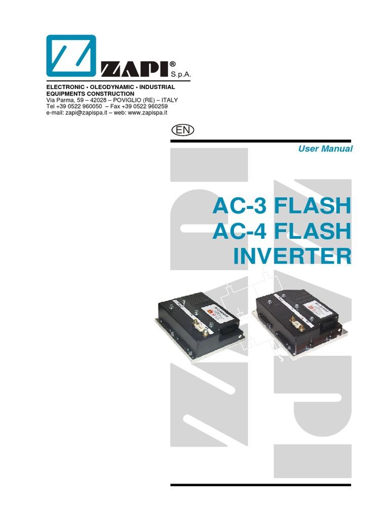 zapi ac3 ac4 manual pdf electromagnetic compatibility rh scribd com Zapi Interface Unit Zapi Toothbrush