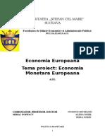 proiect economie europeana