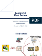 Lecture 12. Final Review