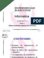 Informática - Unidad_5-1 Almacenamiento Interno de Memoria I
