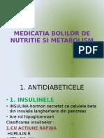 Medicatia Bolilor de Nutritie Si Metabolism