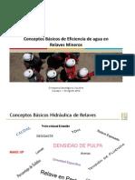 Conceptos Básicos de Eficiencia de Agua en La Minería