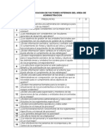 Lista de Verificacion de Factores Internos
