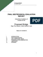 Brgy. Quezon Liloan Bridge Final Geotechnical Evaluation Report