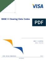 BASE II Clearing Data Codes