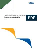 Visa Europe Operating Regulations Volume I - General Rules, May 2013