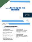 Aula 1 - Processos de Conformação Metálica