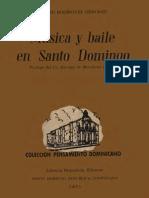Emilio Rodriguez Demorizi - Musica y Baile en Santo Domingo