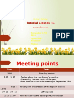 Tutorial Classes Meeting and Workshop November 17th 2015