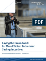 Laying the Groundwork for More Efficient Retirement Savings Incentives