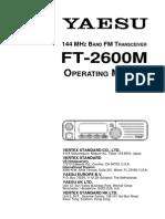 Yaesu FT-2600M Operating Manual