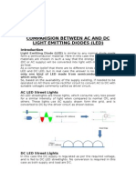 Comparision Between Ac and Dc Light Emitting Diodes