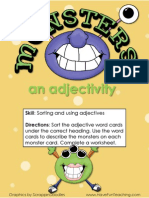 Monsters an Adjectivity Adjectives Activity