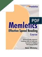 Sean Whiteley] Memletics Effective Speed Reading