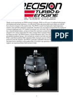 PTE PW46 Wastegate Instructions