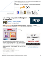 List of Top Companies in Bangalore _ IT Companies in Bangalore _ Company Profiles _ Freshers Plane - 2014 and 2013 Freshers Job Updates _ Freshersplane Jobs _ 2014 Freshers Job Updates _ Freshersplane