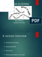 Kritik Basics Lecture