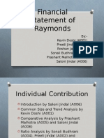 Financial Statement of Raymonds