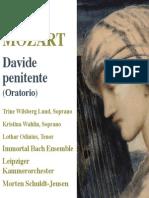 Album Booklet - Mozart Davide Penitente k 469 Regina Coeli k 108
