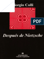 Colli Giorgio - Despues de Nietzsche