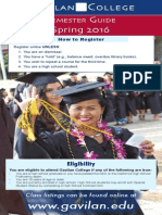 Gavilan College Semester Guide PDF for Web