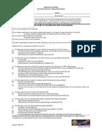 Bio Checklist