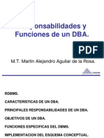 Responsabilidades  y funciones-DBA