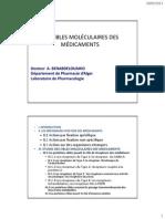 Cibles Moleculaire Des Medicaments Publie