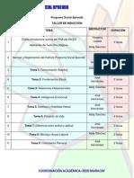 Cronograma de Talleres de Inducción