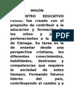Misión Centro Educactivo Peniel