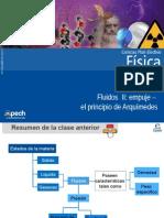 Clase 7 Fluidos II Empuje - El Principio de Arquímedes 2014