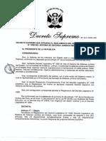 Decreto Supremo del Ministerio de Justicia