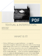 textual tradition presentation