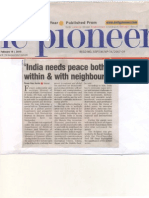 Pioneer Report on BHU Lecture Feb 18, 2010