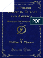 The Polish Peasant in Europe and Monograph of an Immigrant Group vol. 3
