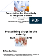 Guides to Drug Prescription for the Elderly & Pregnant Women