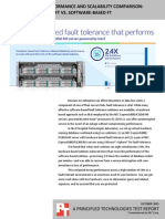 Fault tolerance performance and scalability comparison