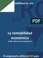 37. El ROI o Rentabilidad de Una Inversion