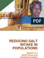 Reducing Salt Intake