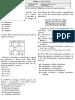 Avaliação de Trimestral de Química Para Grabriela (1.º Ano - 2) — 2.º Trimestre