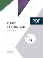 Elnöki Tájékoztató a 2015. Évi Értékhatárokról