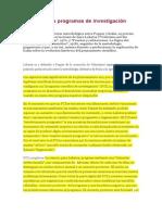 Lakatos y Los Programas de Investigación Científica