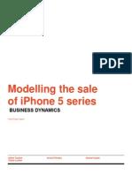 Modelling Sales of iPhone 5 Series