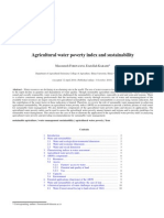 Agricultural Water Poverty Index and Sustainability