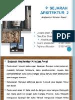sejarah arsitektur kristen awal