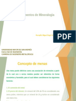 Fundamentos de Mineralogìa MALN 2015